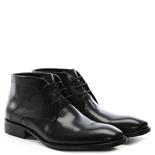 Daniel Yarcombe Nero Tronchetto in Pelle Black Leather