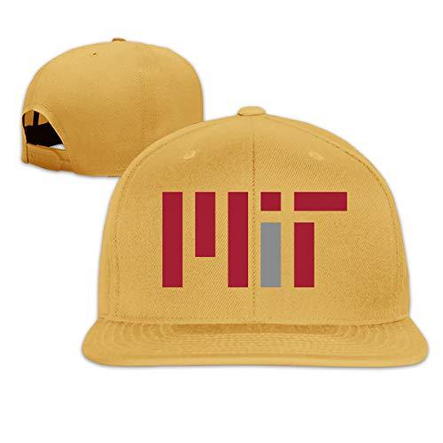 Quickhand Adult MIT Logo A Flat-Brim Caps Adjustable Hats Yellow (Sport Mit R-logo)