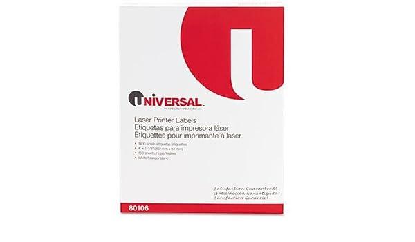 Amazon.com : Laser Printer Permanent Labels, 1-1/3 x 4 ...