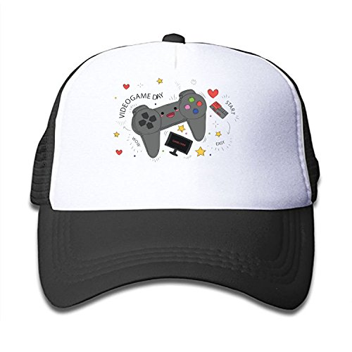 68eb37e33a4dd Mesh Cap Video Game Day Trucker Hats Baseball caps Adjustabl