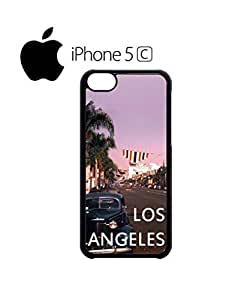 LJF phone case Los Angeles Retro Vintage Mobile Cell Phone Case Cover iphone 5/5s Black