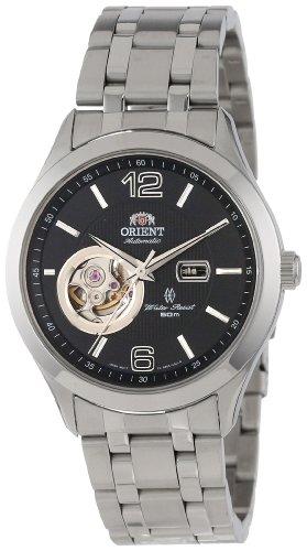 - Orient Men's CDB05001B 50m Semi Skeleton 21 Jewels Watch with Link Bracelet