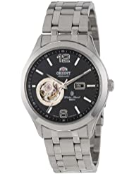 Orient Mens CDB05001B 50m Semi Skeleton 21 Jewels Watch with Link Bracelet