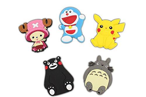 Finex Set of 5 LARGE Japanese Manga Animal Cartoon Characters Refrigerator Magnets Fridge Magnet Set for (Cartoon Magnet)