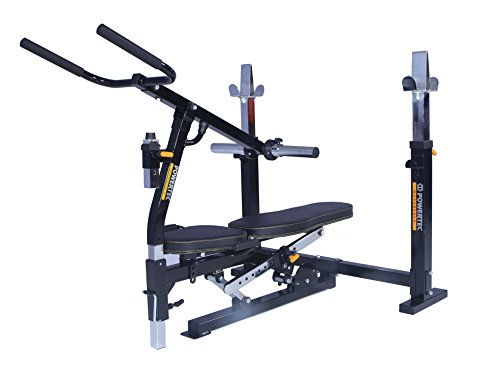 Powertec Workbench Olympic Bench (WB-OB15) + Dip Machine Accessory (WB-DMA16) by Powertec Fitness
