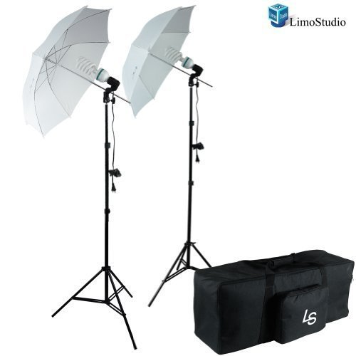LimoStudio 400 Watts Photo Studio Continuous Umbrella Lighting Light Kit with Exclusive Premium Carry Bag, AGG1282