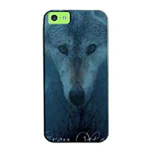 Grey Wolf TPU For Iphone 5c Navy Grey Wolf Fantasy Protective Case