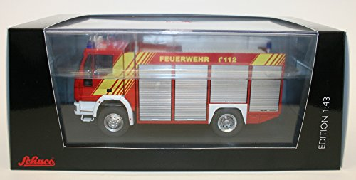 イベコ マギラス RW 新型消防トラック レッド/シルバー (1/43 7134) 完成品 B000XQ979G