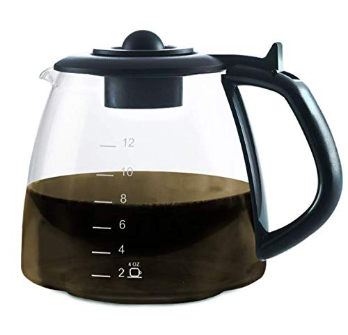 CAFÉ BREW COLLECTION Universal Glass Coffee Replacement Carafe - Coffee Machine Replacement Carafe - Best BPA free Coffee Replacement Carafe - 12 Cup Replacement Coffee Carafe