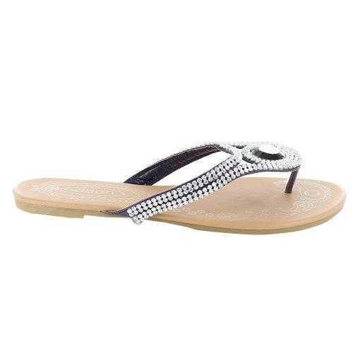 Footwear Sensation - Chanclas para mujer púrpura - morado
