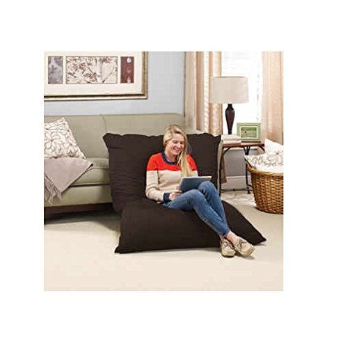 Big Bean Bag Chair Pillow Lounger LARGE OVERSIZED Full Body Lounging Pillow is Generously Filled With Memory Foam Micro-Cushions that Won't Go Flat - Zippered, Washable Cover made with Durable Polyester Knit Fabric