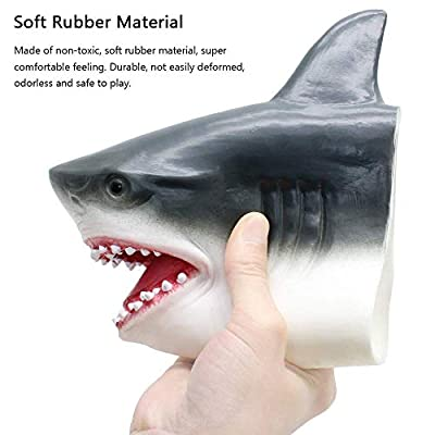 Bling Valley Novelty Toys for Playing Jokes, Soft Rubber Shark Puppets for Kids, Realistic Lifelike Shark Head Role Play Toys for Party Best Gift for Boys and Girl: Toys & Games