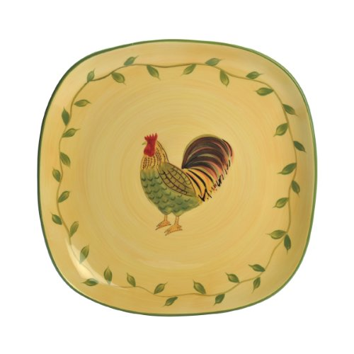 Rooster Square Platter - Pfaltzgraff Napoli Rooster Square Platter (13-1/2-Inch)