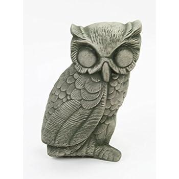 Owl Concrete Garden Statue Cement Animal Figurine Cast Stone Owl Outdoor  Bird Sculpture