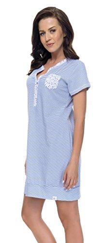 dn-nightwear - Camisón - para mujer azul real