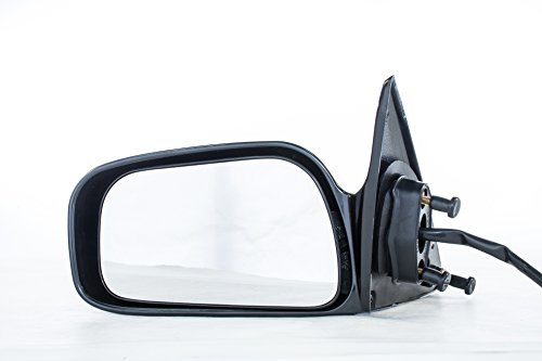 Left Side View Mirror (Driver Side Mirror for USA Built Toyota Camry (1997 1998 1999 2000 2001) Unpainted Non-Heated Non-Folding Power Adjusting Left Outside Rear View Replacement Door Mirror)