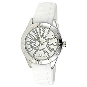 Citron Unisex Silver Silicone Band Watch - 13248-1