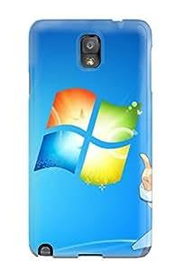 Hot Fashion AXzHMhr16152uSJgN Design Case Cover For Galaxy Note 3 Protective Case ( Animal Blue Cat Madobe Nanami Microsoft Os-tan Windows)