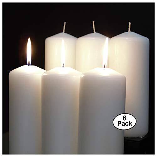CandleNScent White Pillar Candles - 3
