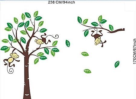 1214-1205-1017 Rainbow Fox Wandtattoo Wandsticker Eule Baum Giraffe L?we Kinderzimmer Baby