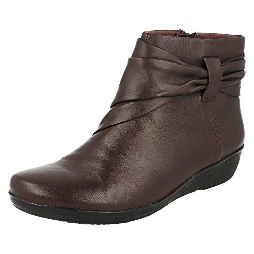 Clarks Détente Femme Boots/Bottes Everlay Mandy En Cuir Noir