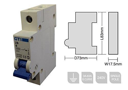 CTI Single Pole MCB Circuit Breaker - 32A