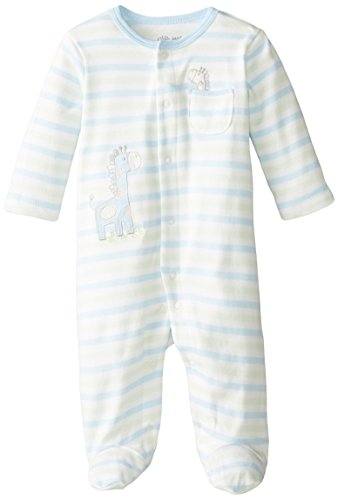Little Me Baby-Boys Newborn Giraffe Footie, Light Blue Stripe, 9 (Blue Giraffe Clothes)