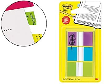 Post-It 680-PBGEU - Dispensador de banderitas (60 unidades por pack) multicolor: Amazon.es: Oficina y papelería