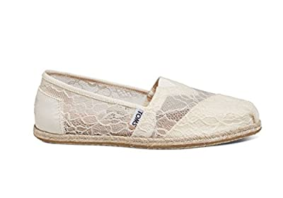 TOMS Women's Espadrilles White Lace Rope 10008347