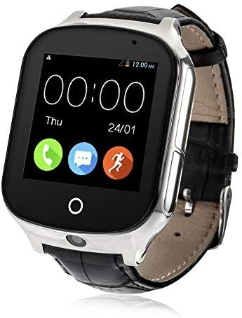 Laxcido 3G WiFi Phone Call GPS Smart Watch, Real-time Tracking GPS Tracker Watch, Geo-Fence Elderly GPS Watch Touch Screen Camera Step Counter Kids ...
