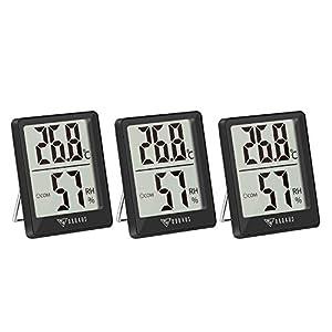 DOQAUS Igrometro Digitale Termometro Interno, [3 Pezzi] Termometro Ambiente Interno con Livello di Comfort, Mini… 41l7FmgCLKL. SS300
