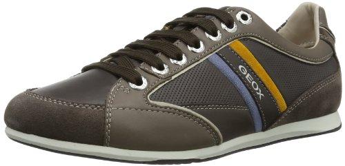 Geox U Andrea P, Sneaker Uomo Marrone (Ebony/Taupe C6137)