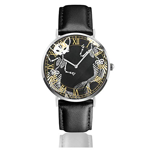 Skull Cats Mermaids Men's Wrist Watches Luxury Waterproof Quartz Casual Watch Women ()