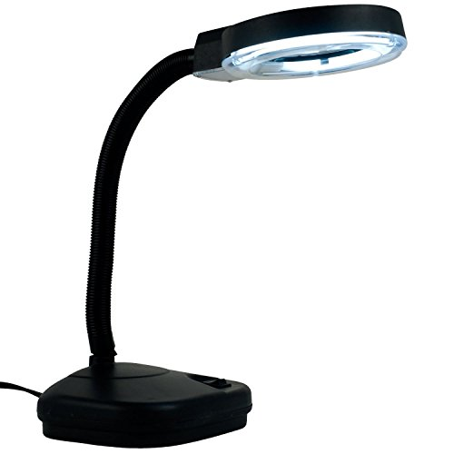 (Eurotool Reading Lamp, Illumination Magnifier Glass with 5x and 10x Zoom)