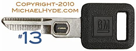 GM 596782 Vats Double Sided Ignition Key Blank w//GM Logo and Vats Resistor Chip #12 12. Oldsmobile /& Pontiac Vehicles Strattec V.A.T.S No Buick