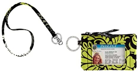 sports shoes 71a1d 86550 Vera Bradley Zip Id Case and Lanyard in Baroque