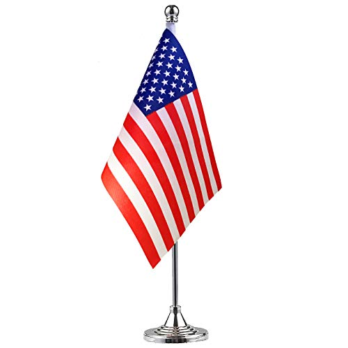 GentleGirl American Flag,USA US Table Flag,Desk Flag,Office Flag,International World Country Flags Banners,Festival Events Celebration,Office Decoration,Desk,Home Decoration ()
