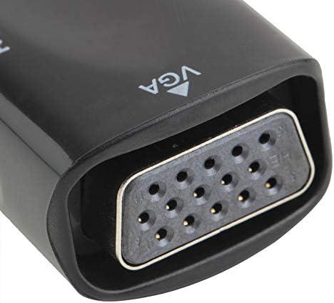 Peanutaor Adaptateur HDMI Femelle vers convertisseur VGA 1080P avec c/âble Audio pour PC TV PromotionHot Nouvelle arriv/ée