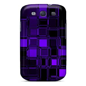 New WilliamMendez Super Strong Purple Glass Cubes Tpu Case Cover For Galaxy S3