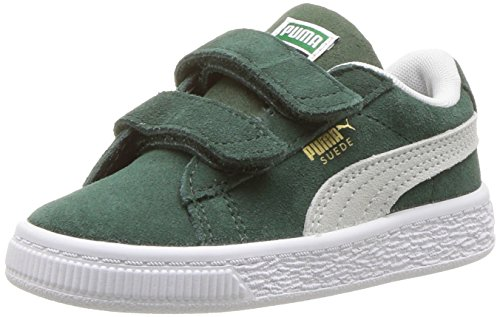 PUMA Baby Suede Classic Velcro Kids Sneaker, Pine Needle White, 5 M US Toddler