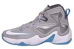 Nike Lebron XIII GS Kids Youth Boys Basketball Shoes 808709-014 (5y, Grey)