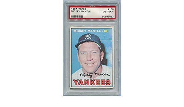 Mickey Mantle 1967 Topps #150. PSA VG-EX 4 at Amazons Sports Collectibles Store