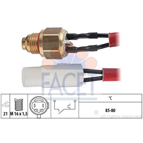 Facet 7.5065 Temperature Switch, radiator fan: