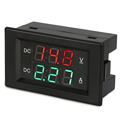 DROK DC 4.5-100V 0-20A Volt Amp Digital Multimeter, Three-Digit Ammeter Voltmeter, DC Voltage Current Meter Tester Gauge with Red & Green Dual Display, Three-wire Multiple Meter Car Auto Vehicle by DROK (Image #2)