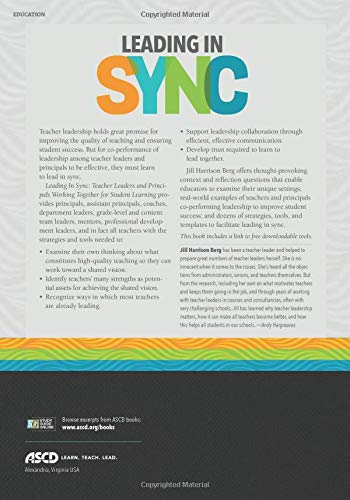 Leading in Sync: Teacher Leaders and Principals Working Together for Student Learning: Jill Harrison Berg: 9781416626473: Amazon.com: Books
