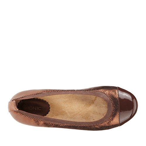 Bronze Orthaheel Vionic Technology Womens with Ballet Lizard Allora Flat H4q4ax0