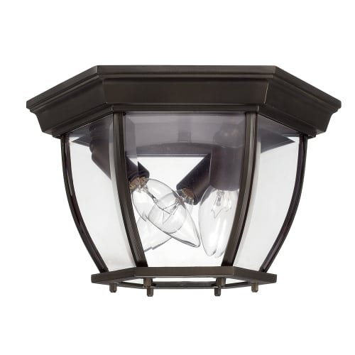 Capital Lighting 9802OB Three Light Outdoor Ceiling Mount Fixture by Capital Lighting