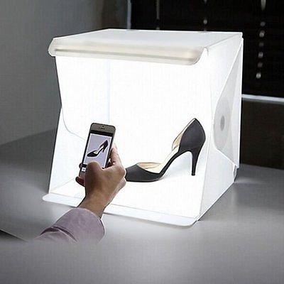 Xinxin Mini plegable Studio difusa Caja suave con luz LED, Color negro y blanco Foto de fondo Shooting tienda de campaña
