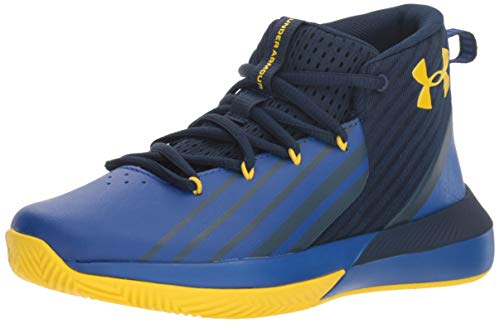 Under Armour Boys' Grade School Launch Basketball Shoe, Academy (402)/Royal, 4.5 (Shoe For Basketball)