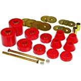Prothane 7-103 Red Body and Standard Cab Mount Bushing Kit - 12 Piece